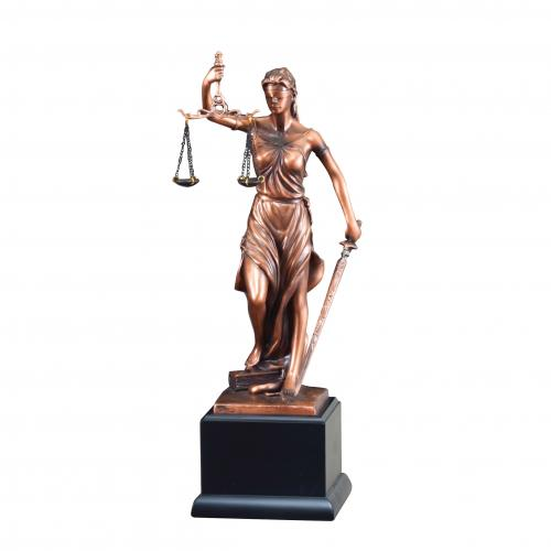 Lady Justice Victory Recognition Award on Black Base