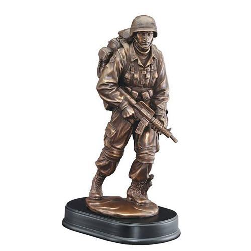 American Rifleman Military Resin Award on Black Base
