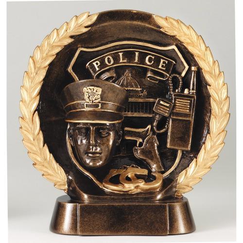 High Relief Resin Police Service Award