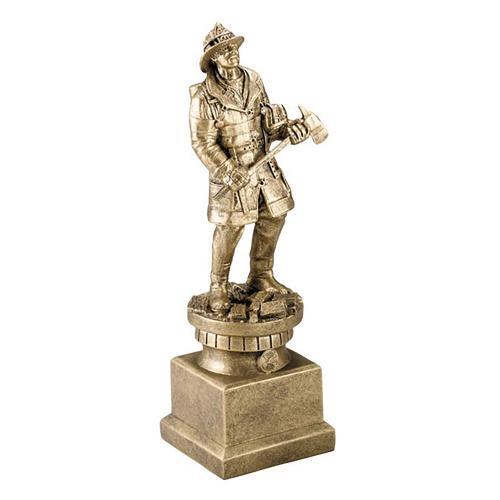 Tribute Firefighter Service Award on Bronze Resin Base