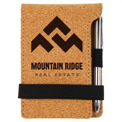 Cork Mini Notepad with Pen Engraved Gifts