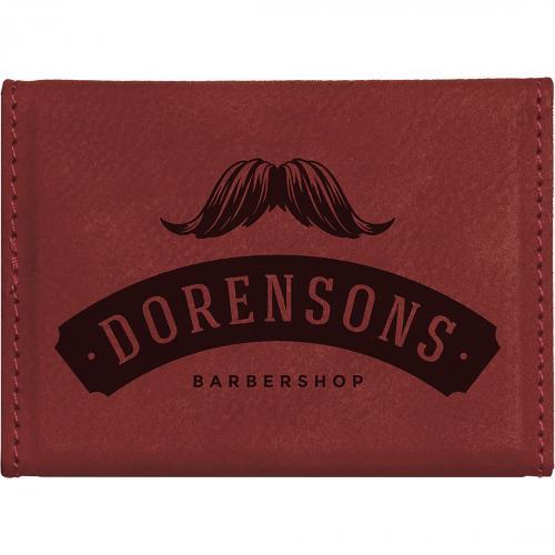 Rose Laserable Leatherette Hard Business Card Holder