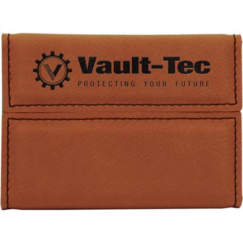 Rawhide Laserable Leatherette Hard Buisness Card Holder