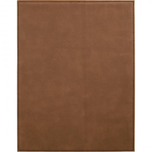 Brown Engraves Black Leatherette Plaque