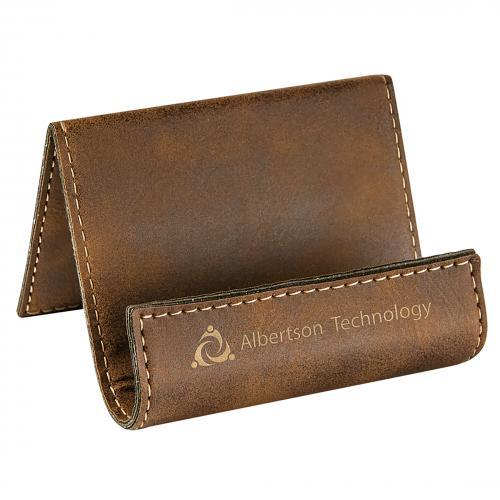 Rustic Leatherette Desk Phone Holder