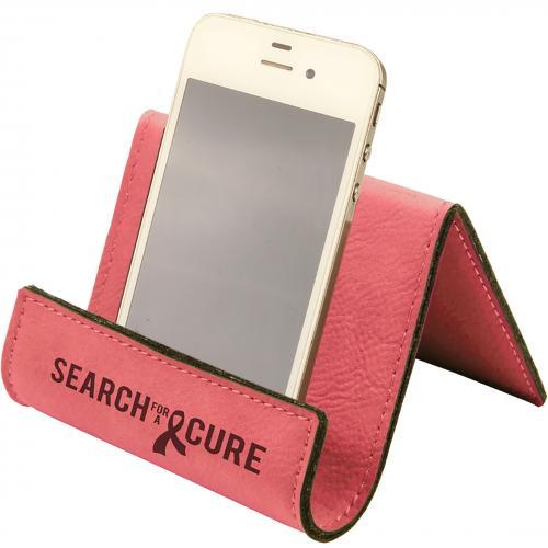 Pink Leatherette Desk Phone Holder