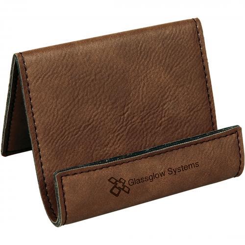 Dark Brown Leatherette Desk Phone Holder Corporate Gifts