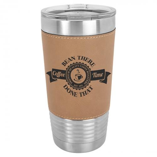 Light Brown 20oz. Stainless Steel Polar Camel Vacuum Insulated Tumbler with Clear Lid