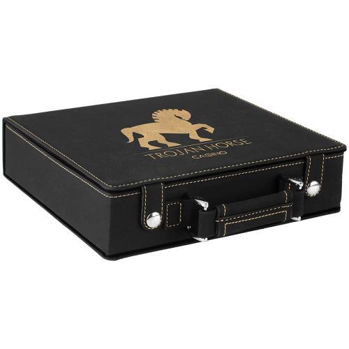 Black Leatherette 100 Chip Poker Set
