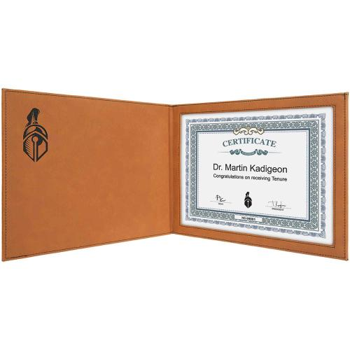 Rawhide Laserable Leatherette Certificate Holder