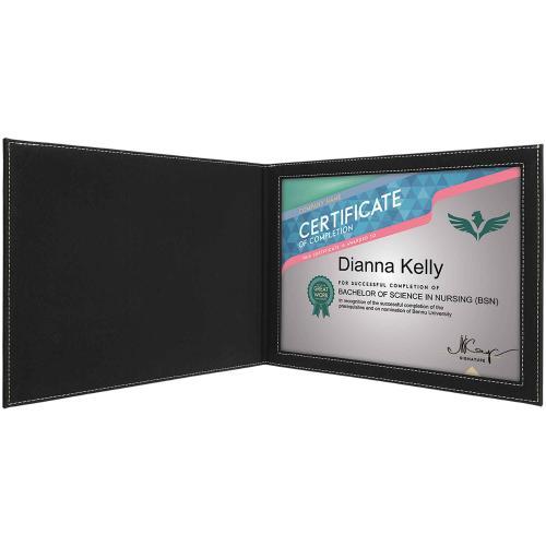 Black Leatherette Certificate Holder