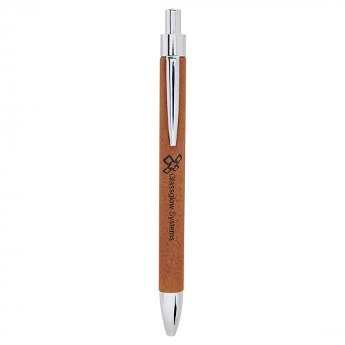 Rawhide Engraves Black Laserable Leatherette Pen