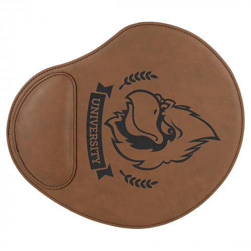 Dark Brown Engraves Black Laserable Leatherette Mouse Pad