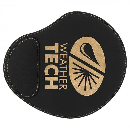 Black Engraves Gold Laserable Leatherette Mouse Pad