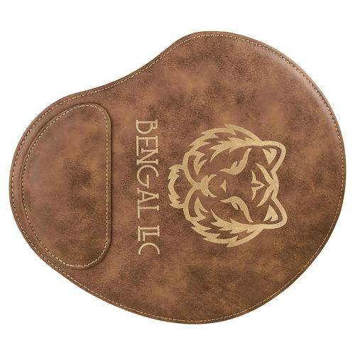 Rustic Engraves Gold Laserable Leatherette Mouse Pad