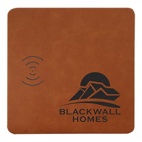 Rawhide Engraves Black Laserable Leatherette Charging Mat