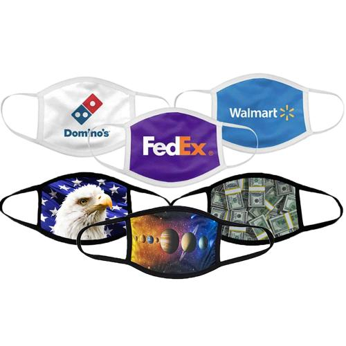 Customizable Color Cotton & Polyester Face Masks Promotional Product