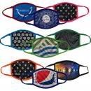 Customizable Color 2-Ply Full Color Polyester Face Mask Cover