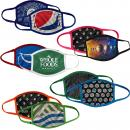 Customizable Color 3-Ply Full Color Polyester Face Mask Cover