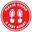 Red Acrylic Floor Decals for Public Safety Plaque