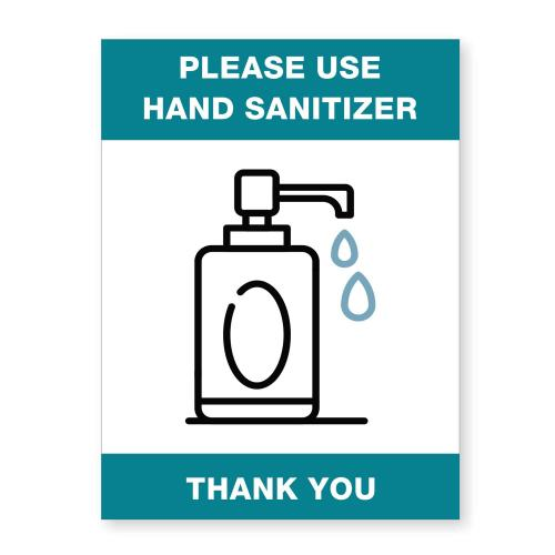 Blue & White Acrylic Sanitizer Ready Made Sign Plaque