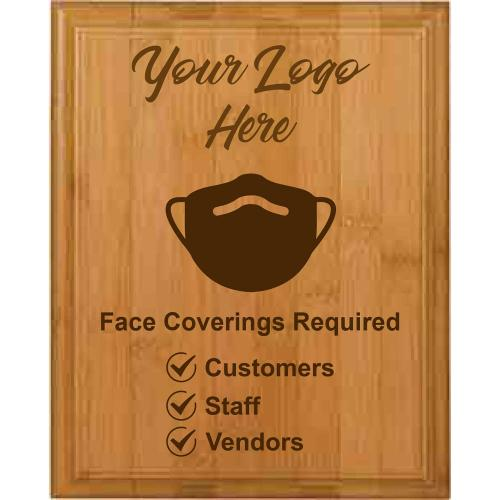 Face Covering Genuine Bamboo Plaque