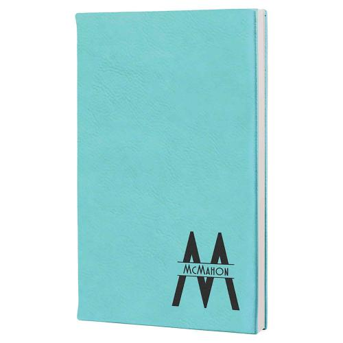 Customizable Color Leatherette Journals with Black Satin Ribbon Bookmark