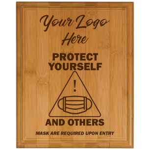 Protect Yourself Genuine Horizontal Bamboo Plaque