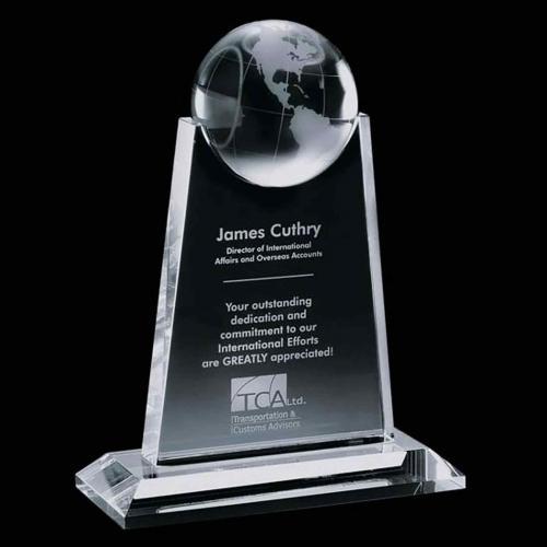 Netherford Globe Crystal Award