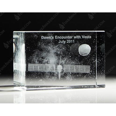 NASA's Dawn Encounter Crystal Custom Awards
