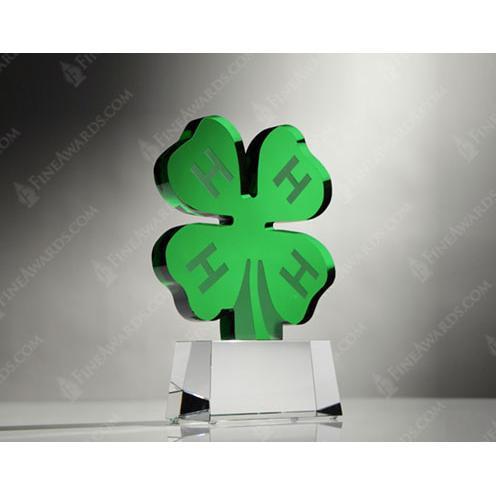 Custom Green Clover Award