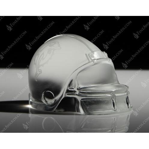 Miami Dolphin Crystal Football Helmet