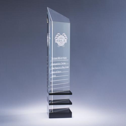 Clear & Black Optical Crystal Innovator Tower Award