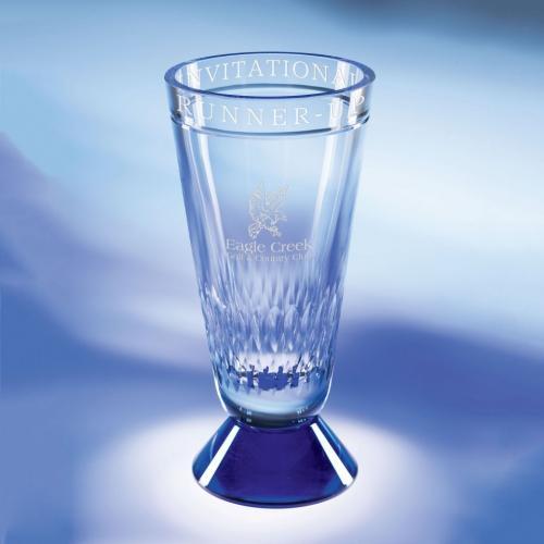 Blue Optical Crystal Expressions Vase