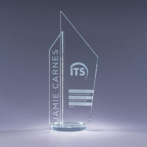 Clear Optical Crystal Skape Obelisk Award