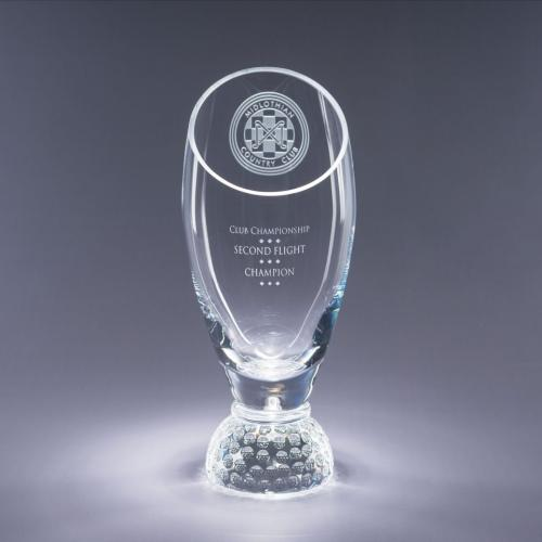 Clear Optical Crystal Profile Golf Cup