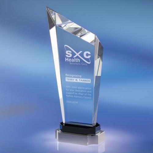 Clear Optical Crystal Steadfast Award
