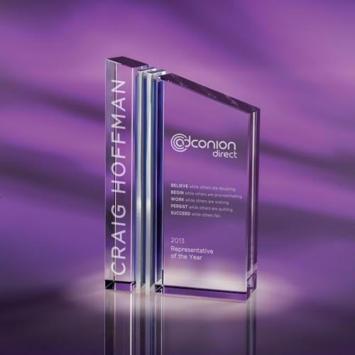 Clear Optical Crystal Trans Award