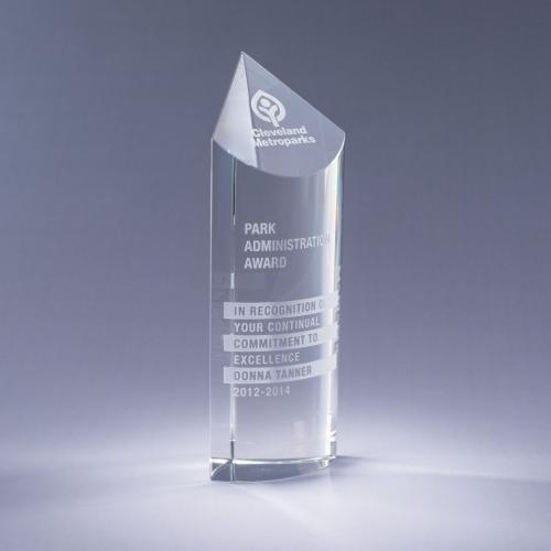 Clear Optical Crystal Scope Award