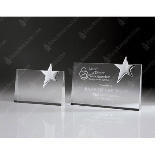 Clear Crystal Top Star Award
