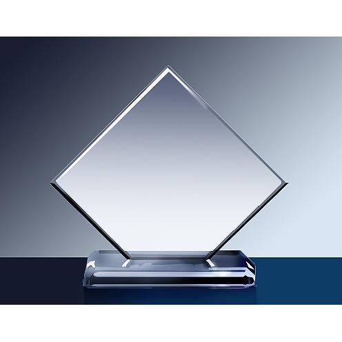 Clear Glass Cut Corner Square Award
