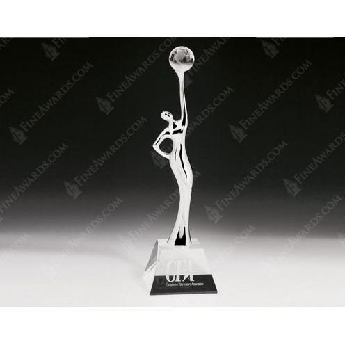 Clear Optical Crystal Goddess of Universe Award