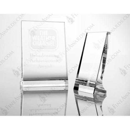 Clear Optical Crystal Vertical Plaque