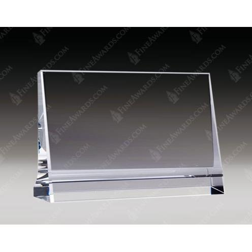 Clear Optical Crystal Horizontal Plaque