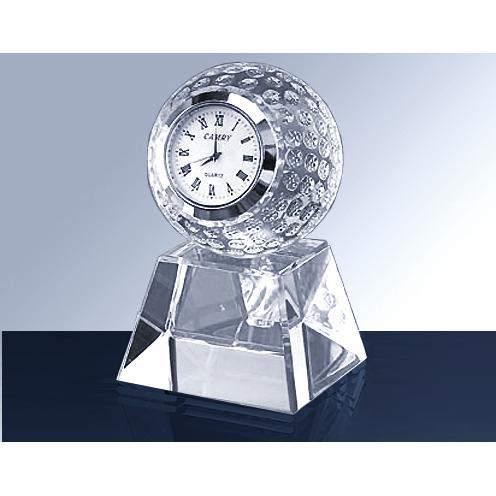Clear Crystal Golf Ball Clock