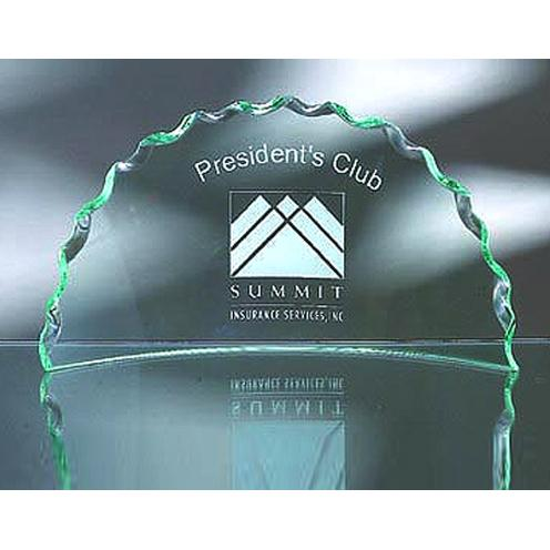Green Jade Glass Media Luna Award
