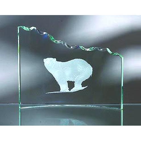 Green Jade Glass Wave Crescent Award