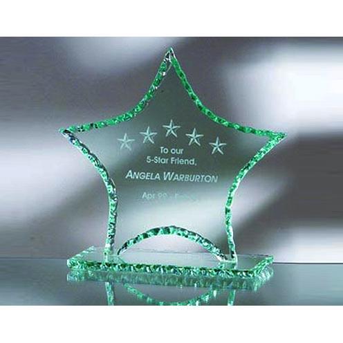 Green Jade Glass Star Award