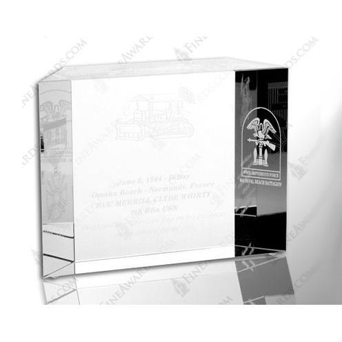 Clear Optical Crystal Block of Honor Award