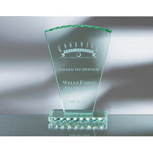 Green Jade Glass Fan Award